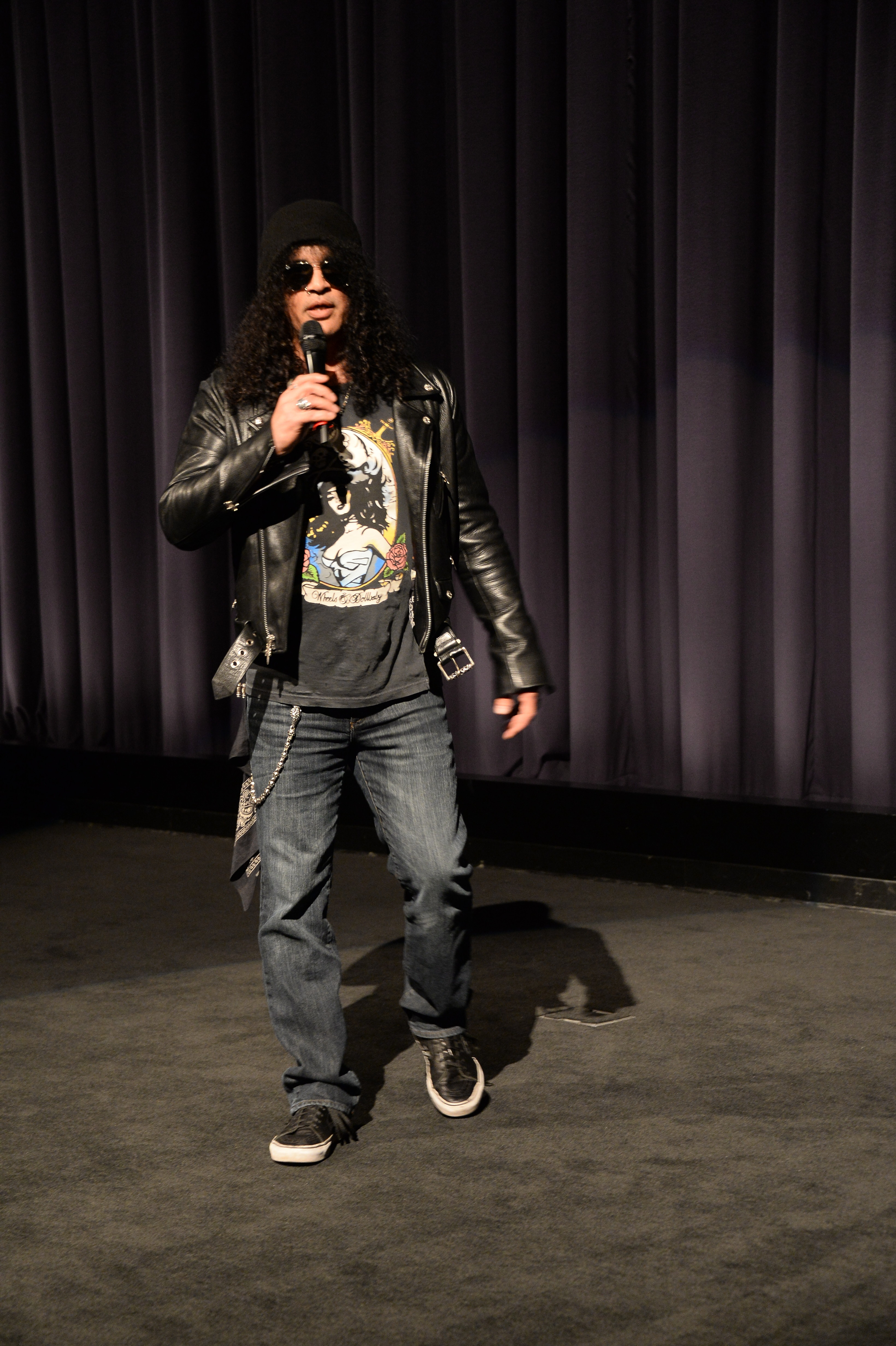 LOS ANGELES, CA - MARCH 10:  Guns N' Roses guitarist Slash attends Coverfield Lane Private Screening hosted By Slash at Paramount Pictures on March 10, 2016 in Los Angeles, California.  (Photo by Frazer Harrison/Getty Images for Paramount Pictures)